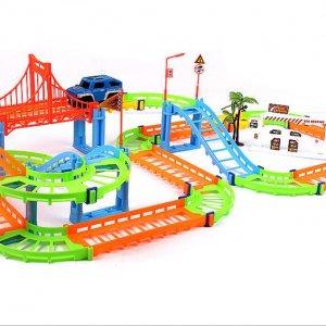 Bộ đồ chơi lắp ráp đường ray cho ô tô đua siêu tốc lượn vòng giá rẻ giao tận nơi