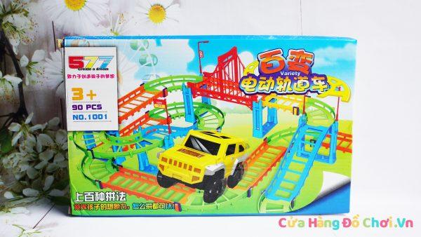 Bộ đồ chơi lắp ráp đường ray cho ô tô chạy