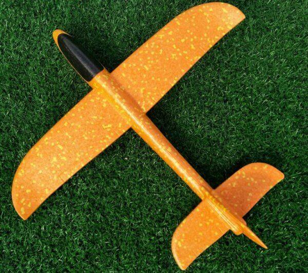 máy bay xốp cỡ lớn 48cm màu cam