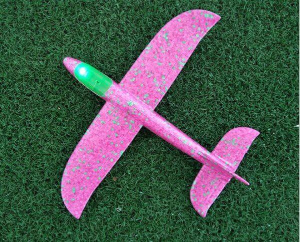 máy bay xốp cỡ nhỏ 35 hồng có đèn