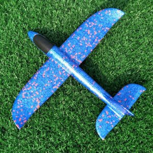 máy bay xốp cỡ nhỏ 35 xanh da trời