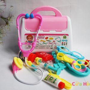 Bộ đồ chơi bác sĩ 15 món màu hồng