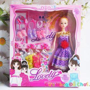 Búp bê công chúa váy tím
